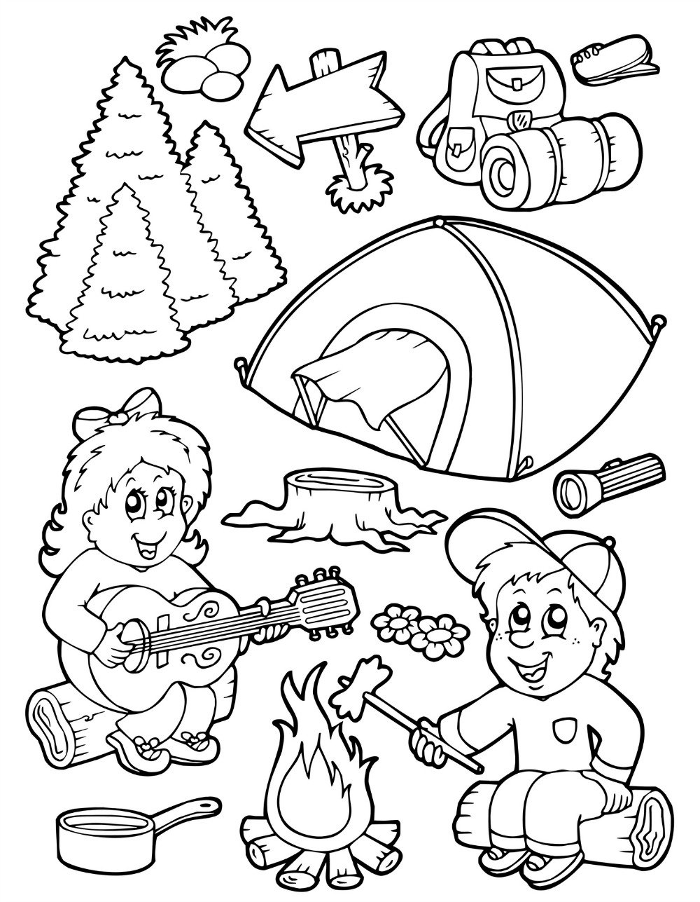 camping coloring pages for preschoolers camp activities camping coloring pages coloring camping for preschoolers pages