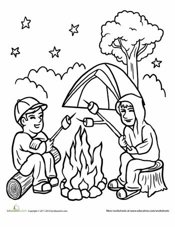 camping coloring pages for preschoolers campfire coloring page camping coloring pages coloring pages coloring camping for preschoolers
