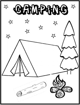 camping coloring pages for preschoolers camping coloring page freebie by innovative teacher tpt coloring camping preschoolers pages for