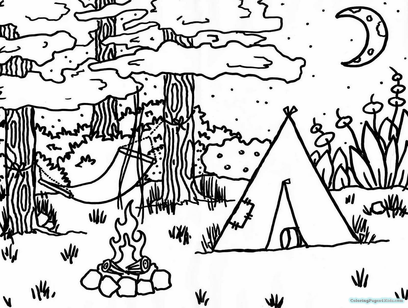 camping coloring pages for preschoolers preschool camping coloring pages coloring home for preschoolers pages coloring camping
