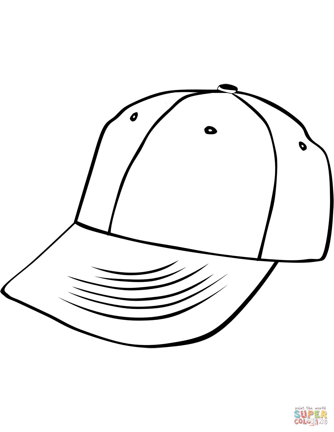 cap coloring page baseball cap coloring pages coloring pages to download coloring cap page