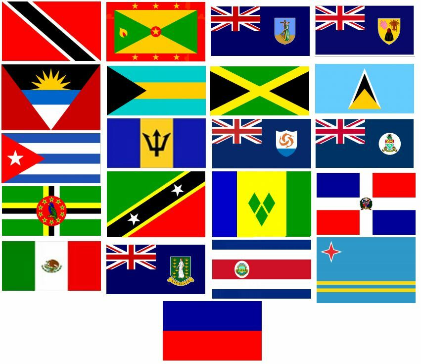 caribean flags flags of caribbean stock illustration download image now caribean flags