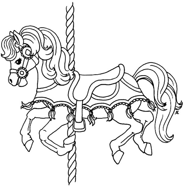 carousel horse coloring pages carousel animals coloring pages at getcoloringscom free horse coloring carousel pages