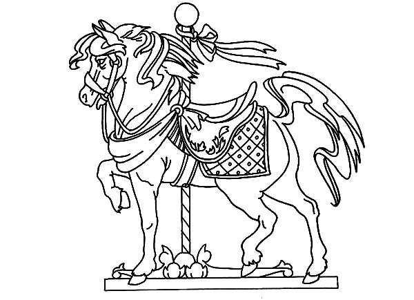 carousel horse coloring pages carousel coloring pages getcoloringpagescom pages carousel horse coloring