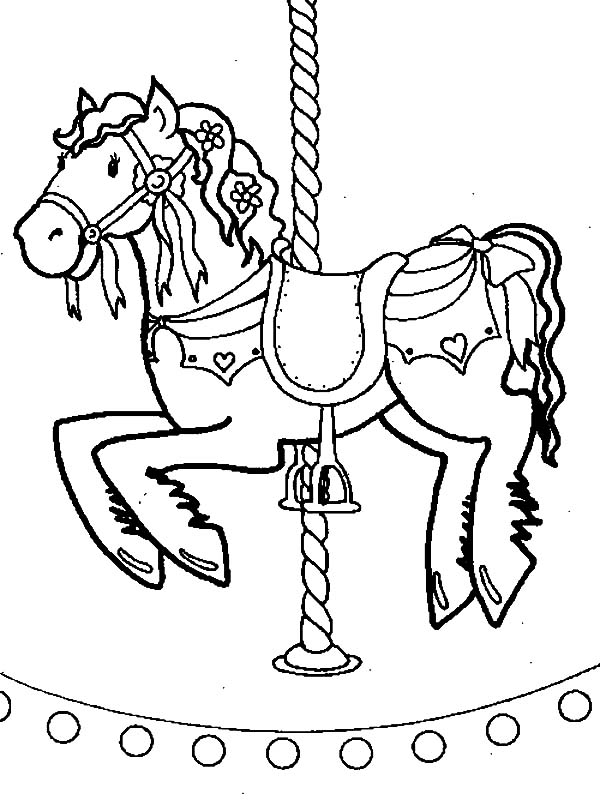 carousel horse coloring pages carousel horse carnival coloring pages best place to color coloring pages horse carousel