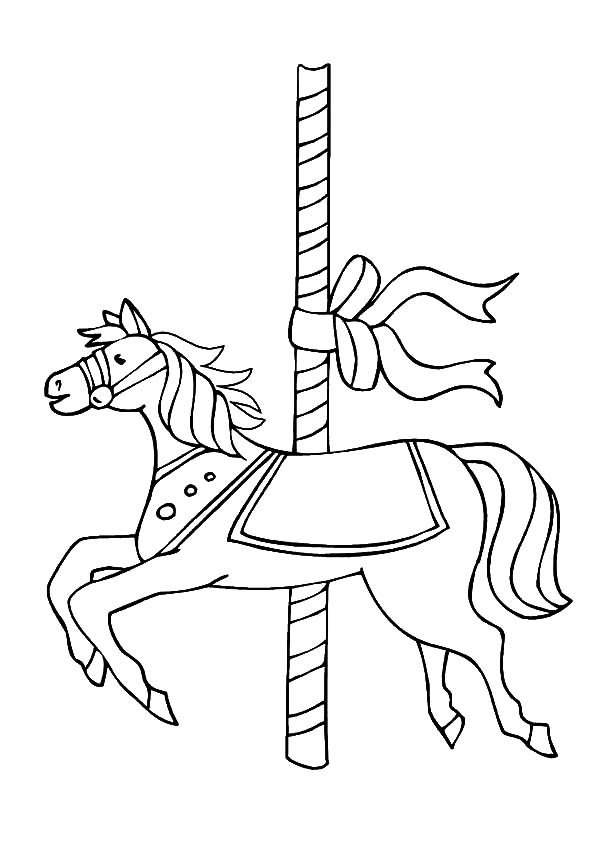 carousel horse coloring pages carousel horse coloring page woo jr kids activities horse coloring carousel pages