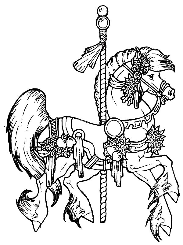 carousel horse coloring pages carousel horse coloring pages get coloring pages carousel coloring horse pages