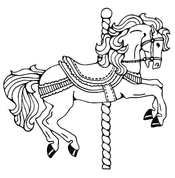 carousel horse coloring pages carousel horses coloring pages coloring home coloring horse carousel pages