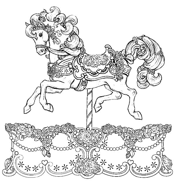 carousel horse coloring pages carousel horses coloring pages coloring home horse pages coloring carousel