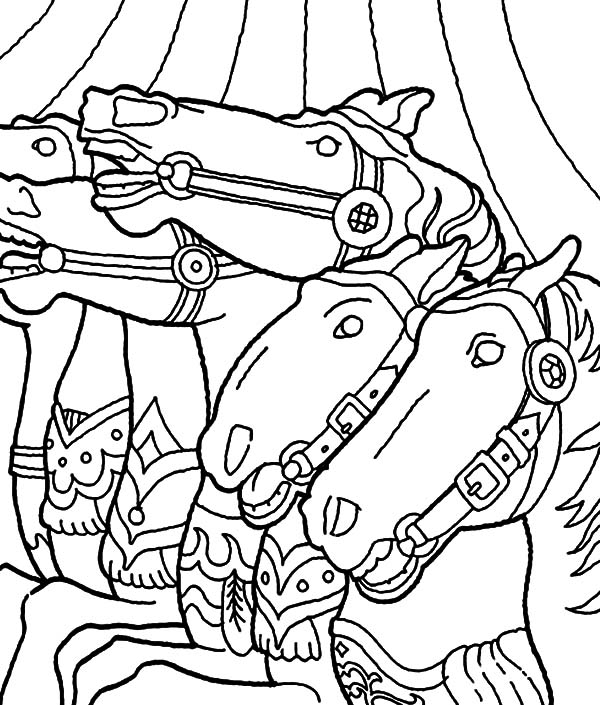 carousel horse coloring pages floral carousel horse coloring pages best place to color horse carousel coloring pages