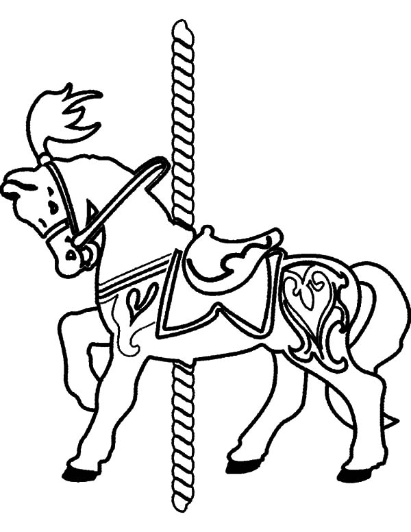 carousel horse coloring pages flying carousel horse coloring pages best place to color carousel coloring horse pages