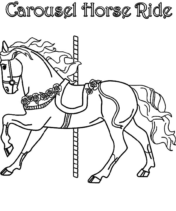 carousel horse coloring pages flying carousel horse coloring pages best place to color coloring horse pages carousel