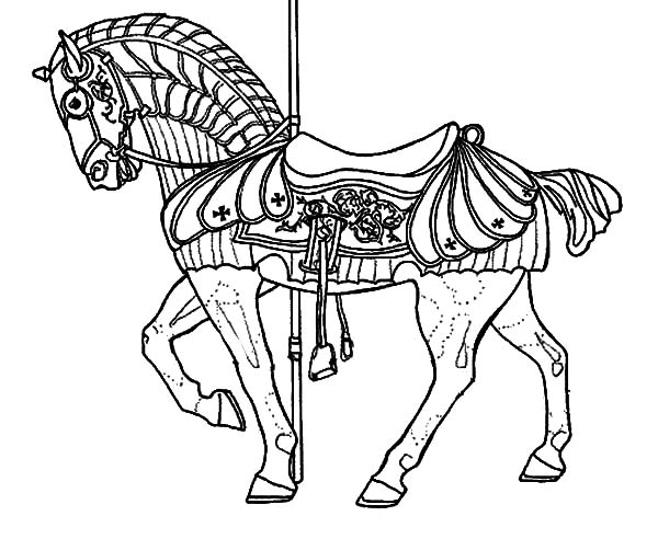 carousel horse coloring pages hippocampus carousel horse coloring pages best place to coloring horse carousel pages