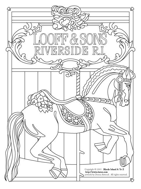 carousel horse coloring pages image result for carousel horses stained glass coloring coloring horse pages carousel