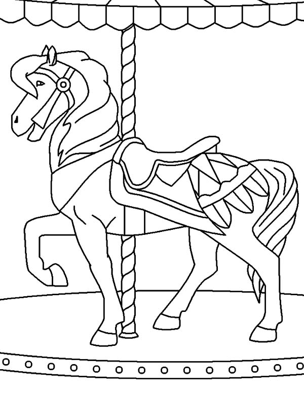 carousel horse coloring pages kid favorite carousel horse coloring pages best place to carousel pages coloring horse