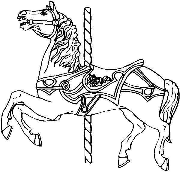 carousel horse coloring pages strong carousel horse coloring pages strong carousel carousel horse pages coloring