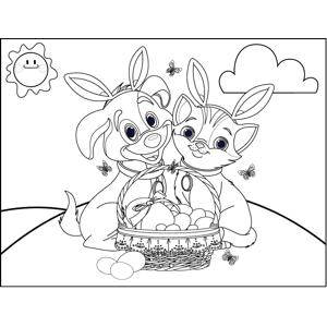 cat and bunny coloring page bunny with carrot coloring page coloring home and page cat coloring bunny