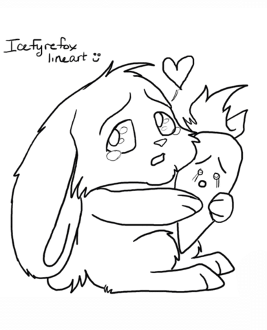 cat and bunny coloring page cat and bunny coloring page bunny and coloring page cat