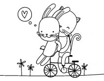 cat and bunny coloring page cat and bunny in the park coloring pages page coloring bunny cat and
