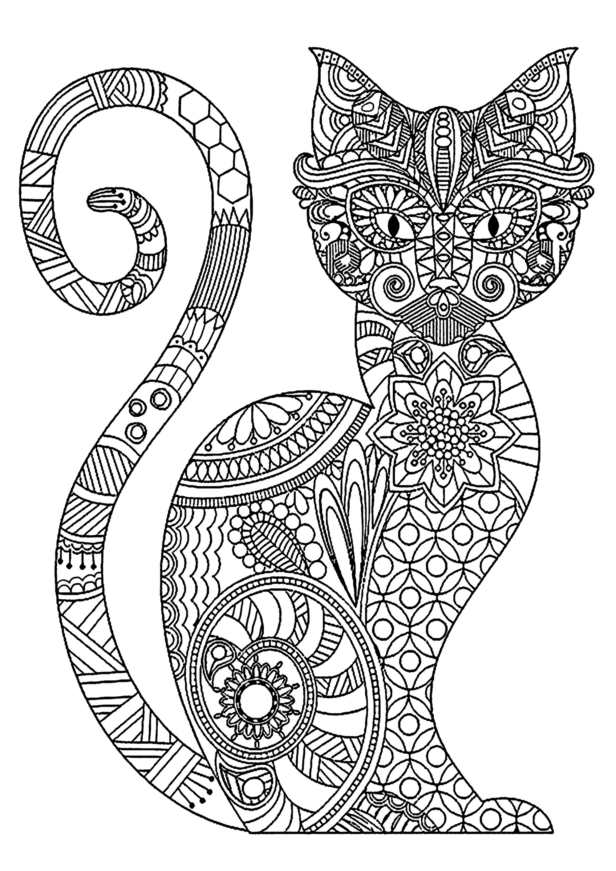cat coloring pictures very wise cat cats adult coloring pages coloring pictures cat