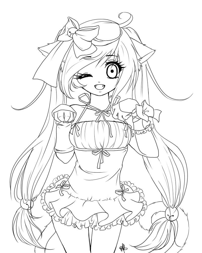 cat girl anime coloring pages anime cat girl coloring pages at getcoloringscom free coloring anime girl pages cat
