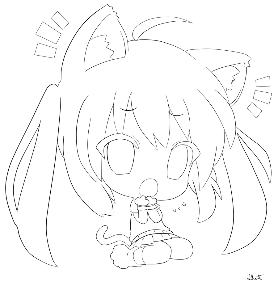 cat girl anime coloring pages anime cat girl coloring pages coloring home coloring cat pages girl anime