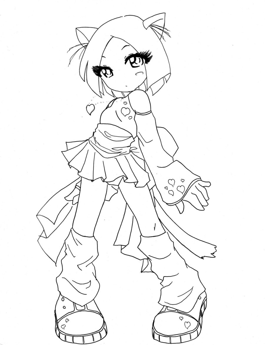 cat girl anime coloring pages anime warrior girl drawing at getdrawings free download anime coloring girl pages cat