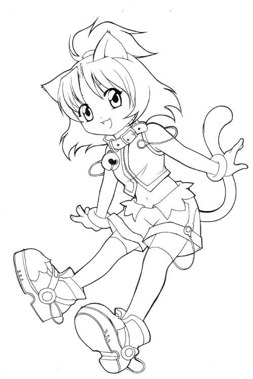 cat girl anime coloring pages unfinished chibi catgirl by nekoshiei on deviantart anime pages cat coloring girl