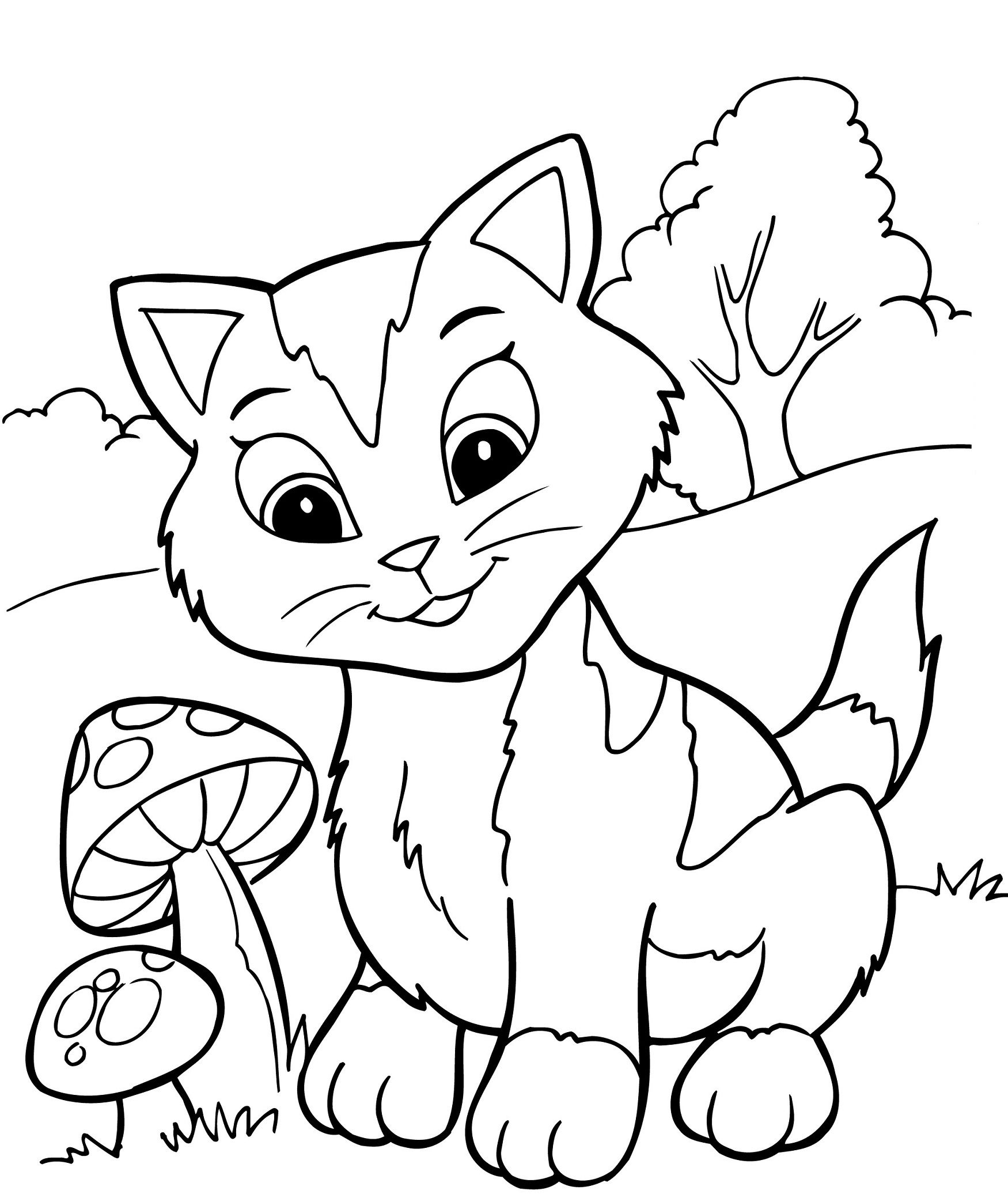 cat pictures to print kitten coloring pages free download on clipartmag cat to print pictures