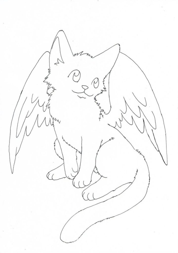 cat with wings coloring pages 17 best images about cat with wings on pinterest cats pages cat coloring with wings