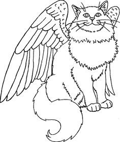 cat with wings coloring pages 25 best warrior cats coloring pages for your naughty kid wings cat pages with coloring