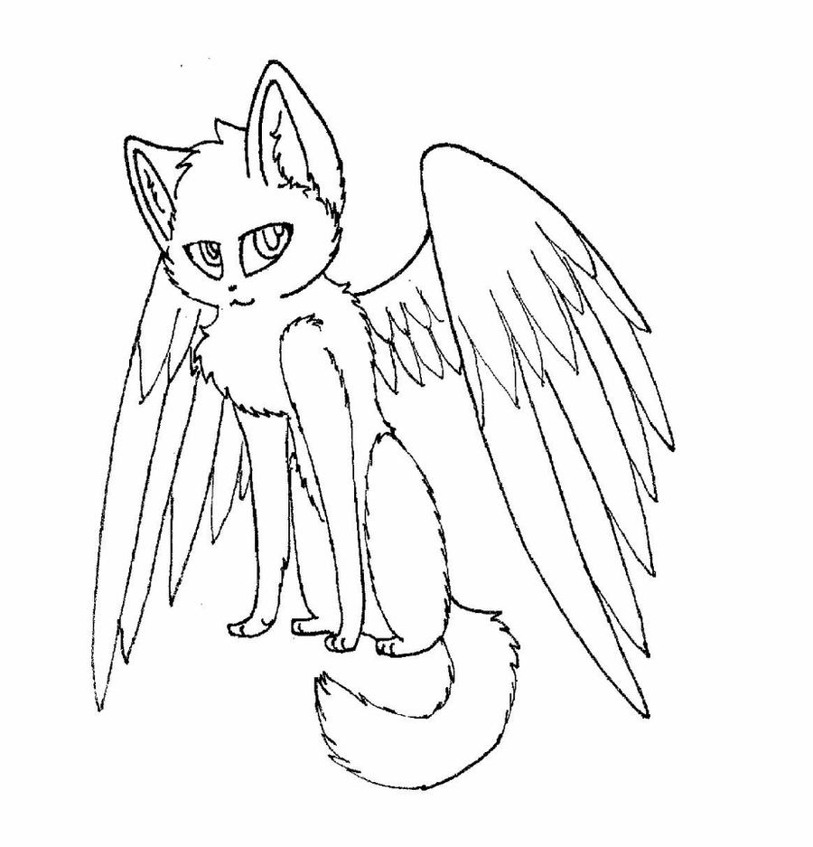 cat with wings coloring pages cat with wings line art by joker darling on deviantart wings pages with cat coloring