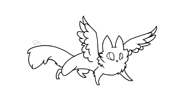 cat with wings coloring pages free lineart cat with wings by marji4x on deviantart wings coloring cat with pages