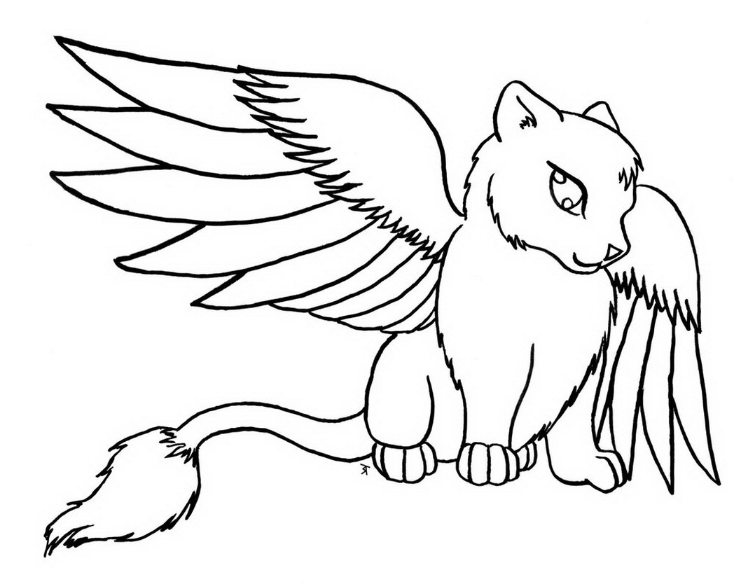 cat with wings coloring pages image result for winged cat stencilcoloring page kitty coloring pages wings with cat
