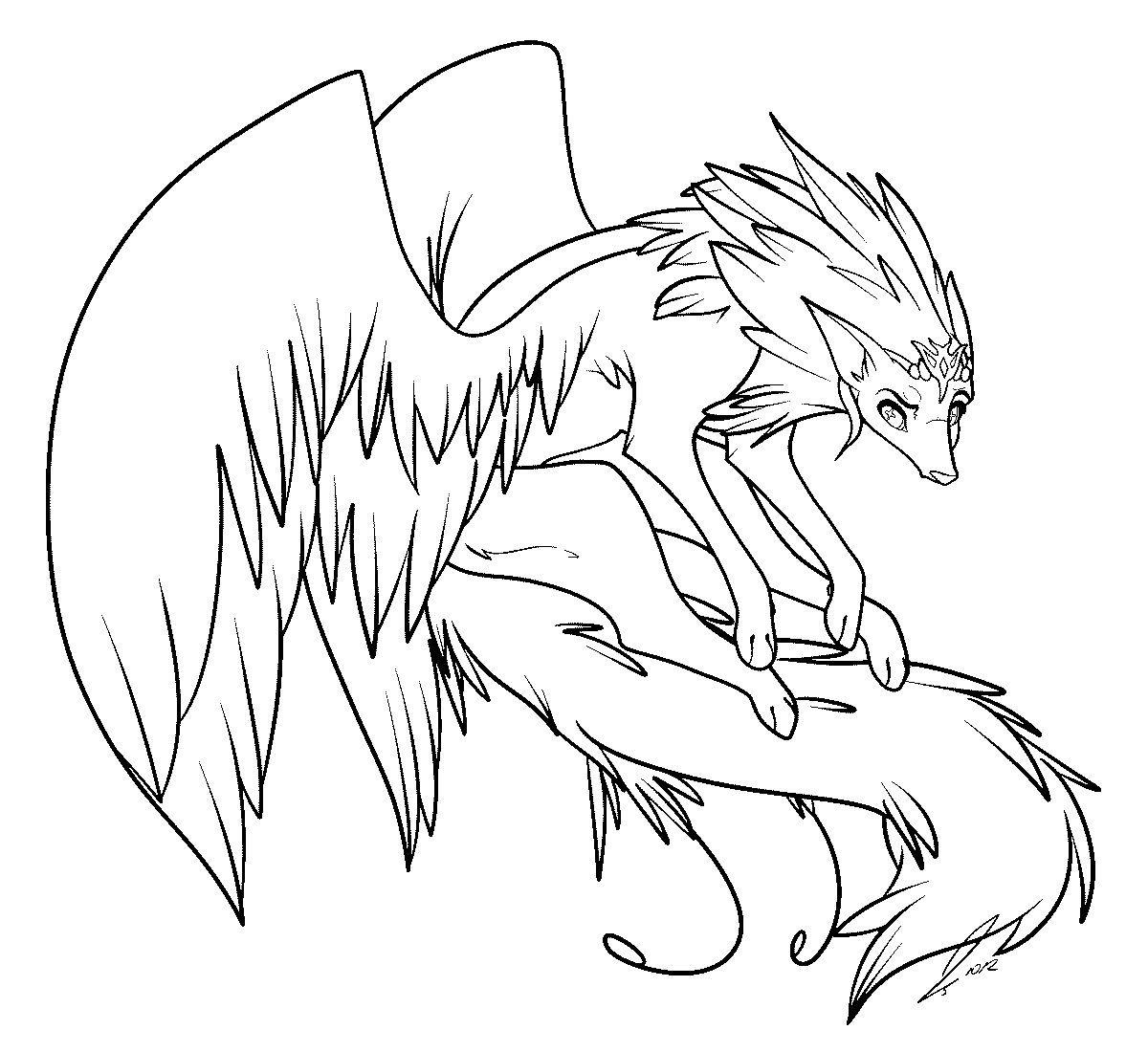 cat with wings coloring pages winged cat coloring page by ioveanimals100 on deviantart with coloring wings cat pages