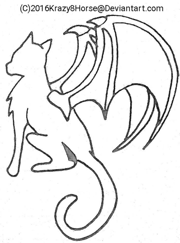cat with wings coloring pages winged cat lineart by jealousapples on deviantart pages coloring wings with cat