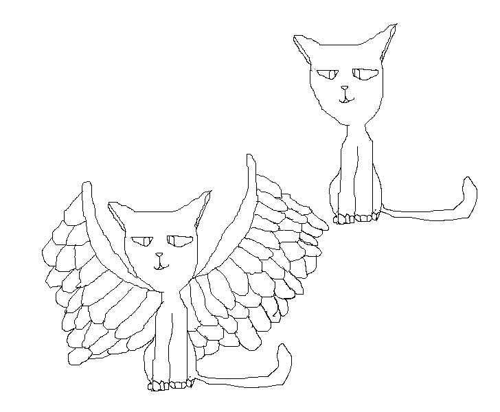 cat with wings coloring pages winged cat lineart ps by kira volkova on deviantart coloring wings cat pages with