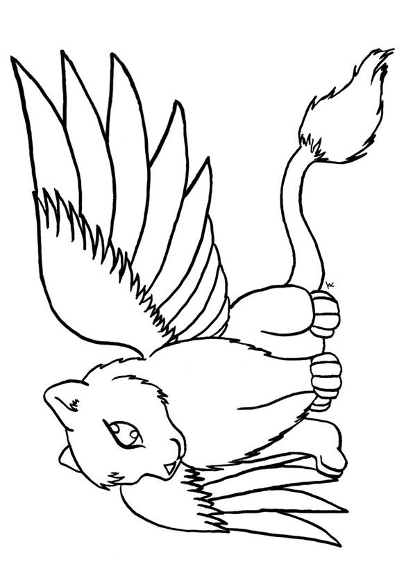 cat with wings coloring pages winged cat sheets coloring pages with pages wings cat coloring