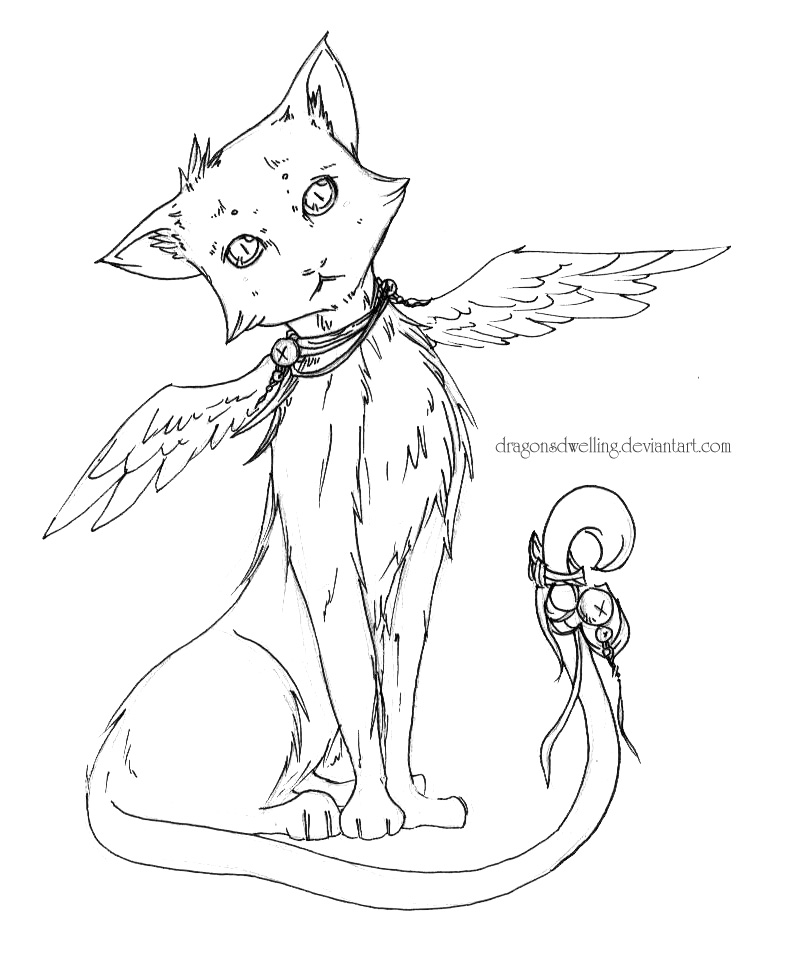 cat with wings coloring pages winged kitten coloring pages coloring pages wings cat pages coloring with
