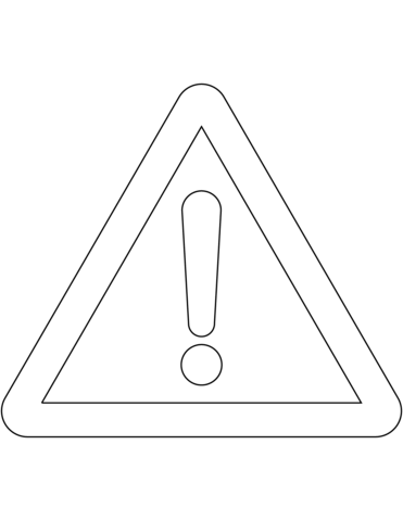 caution sign coloring page hazard warning diamonds poison 6 label coloring sign caution page
