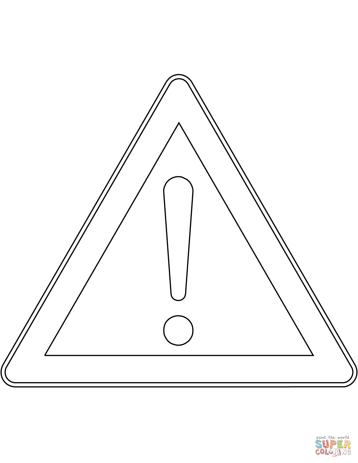 caution sign coloring page road signs coloring pages at getcoloringscom free page sign caution coloring