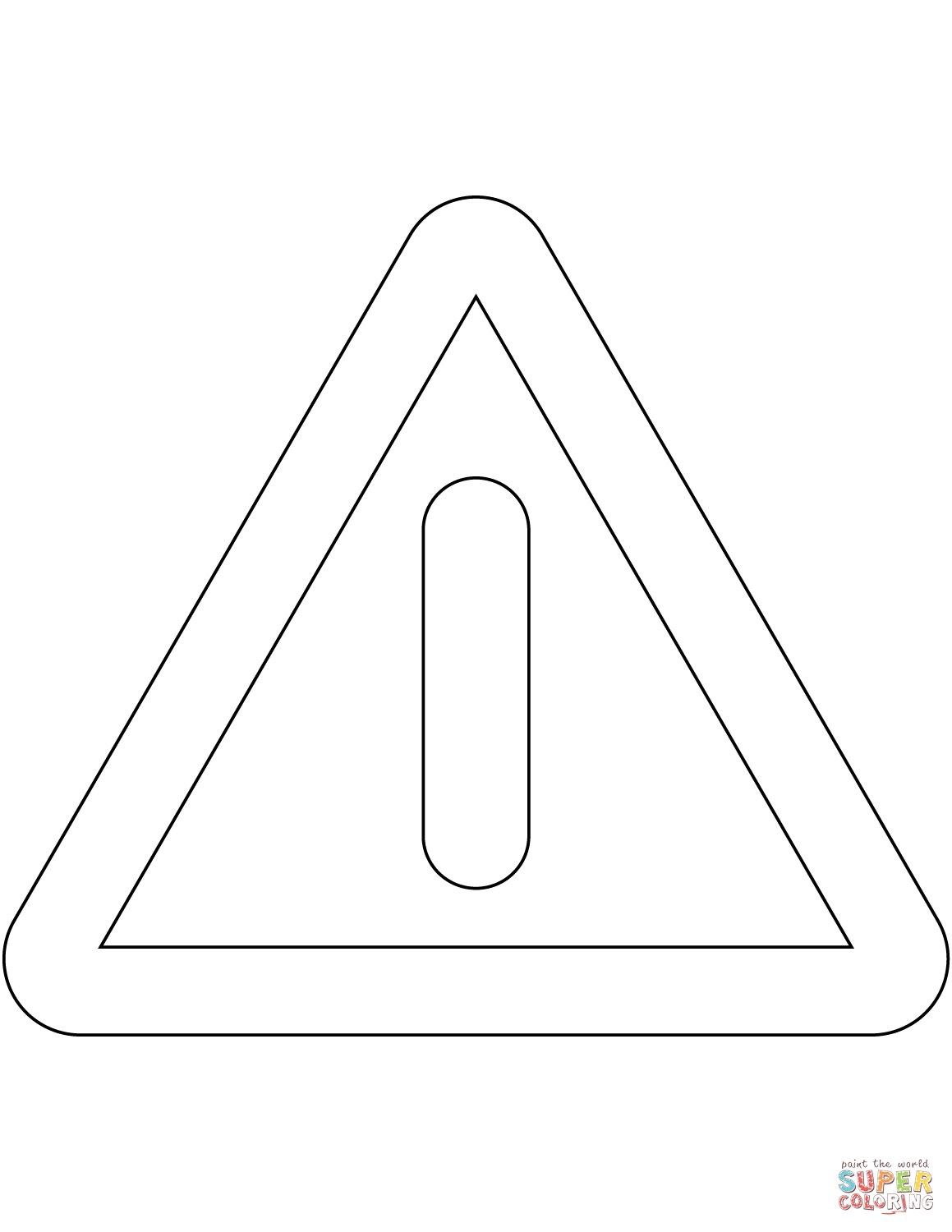 caution sign coloring page safety signs coloring pages coloring home page caution coloring sign
