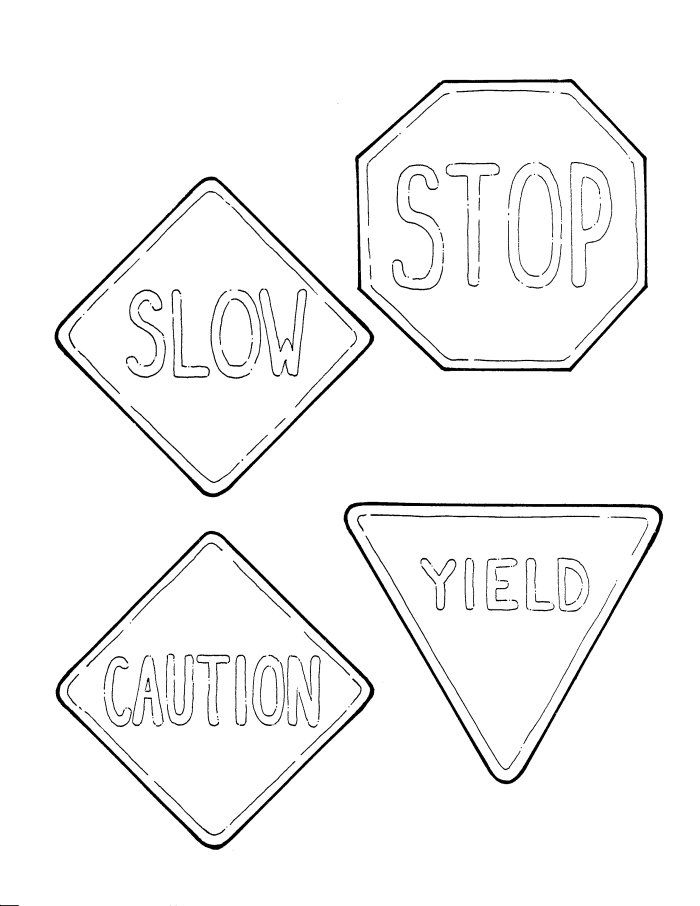 caution sign coloring page safety signs turn right coloring page coloring sign page caution