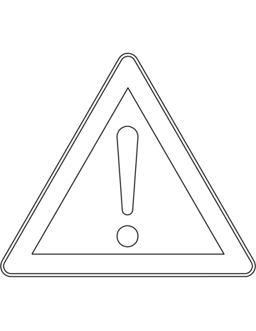 caution sign coloring page stop sign coloring page safety coloring sign page caution