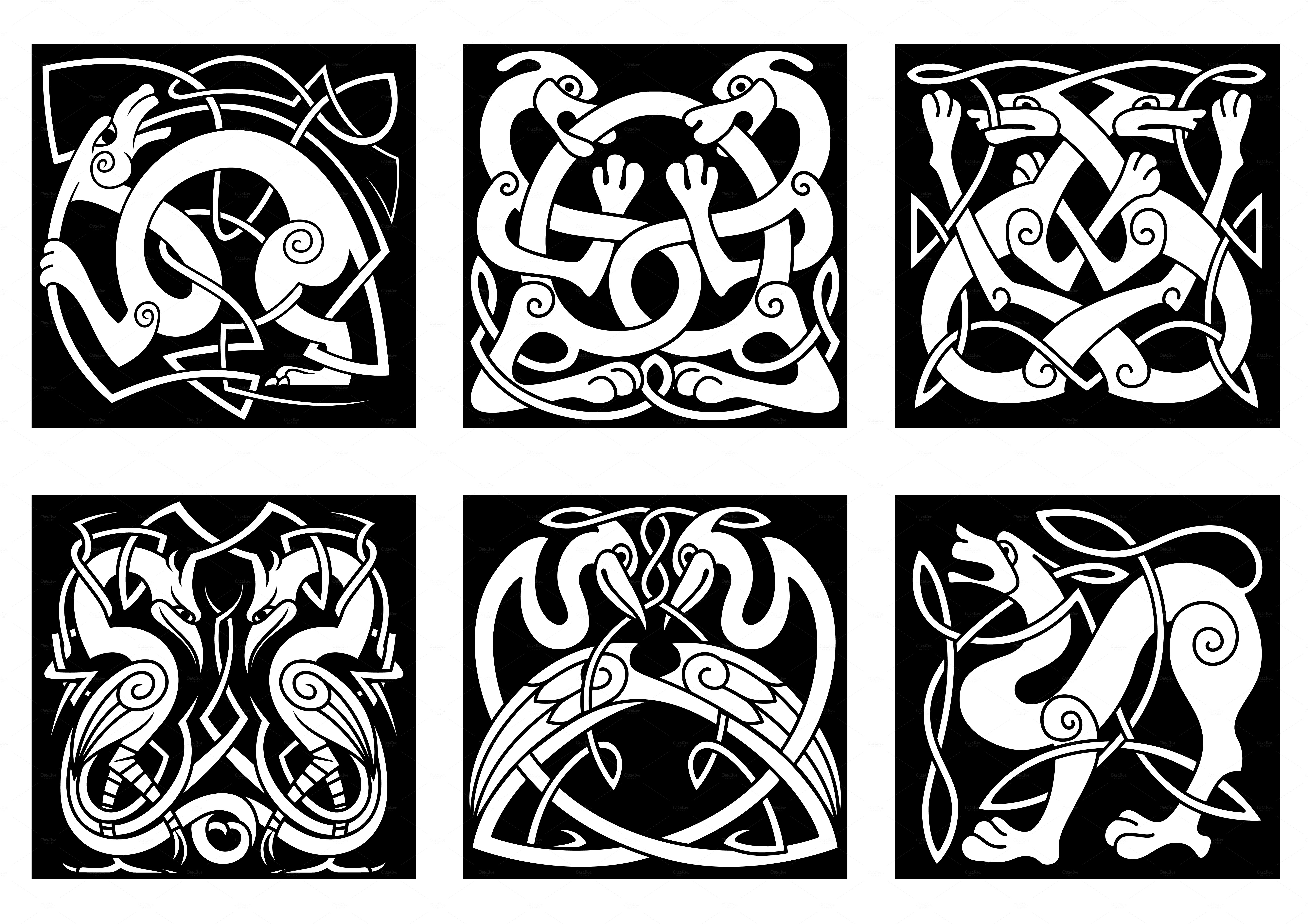 celtic patterns animal and birds in celtic style patterns on creative market celtic patterns