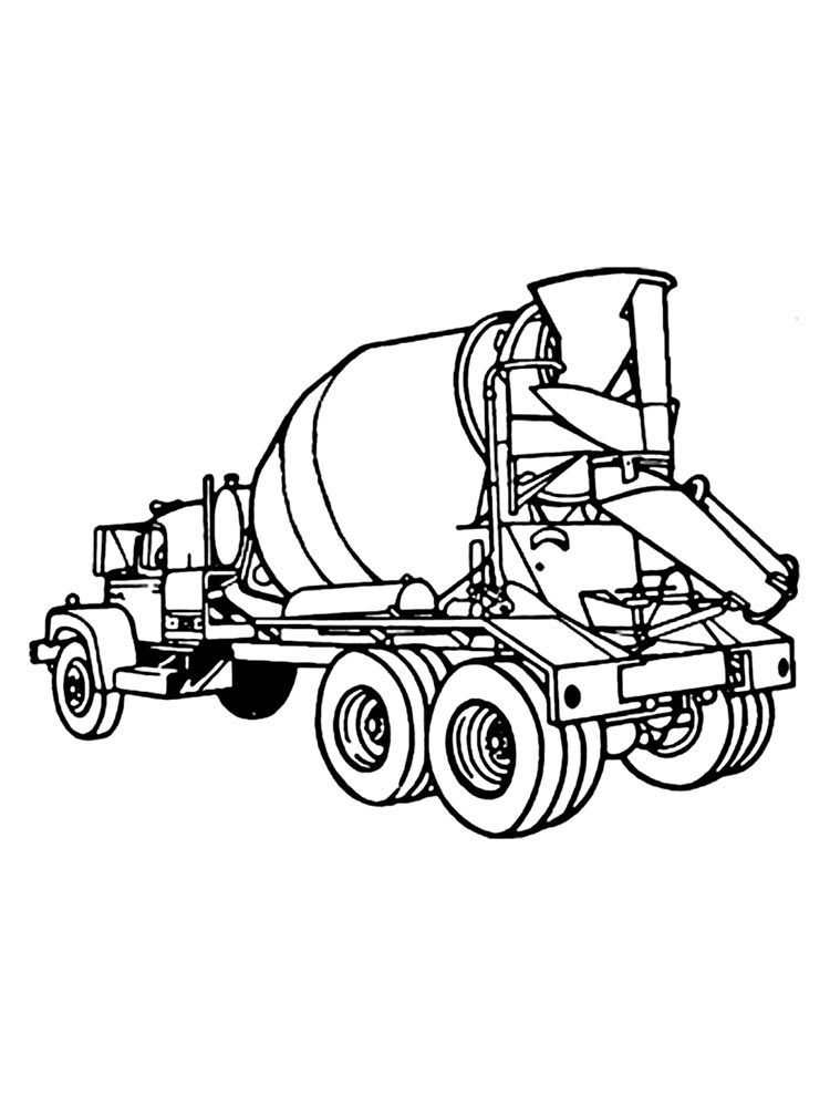 cement mixer coloring pages ausmalbilder betonmischer malvorlagen kostenlos zum pages cement mixer coloring