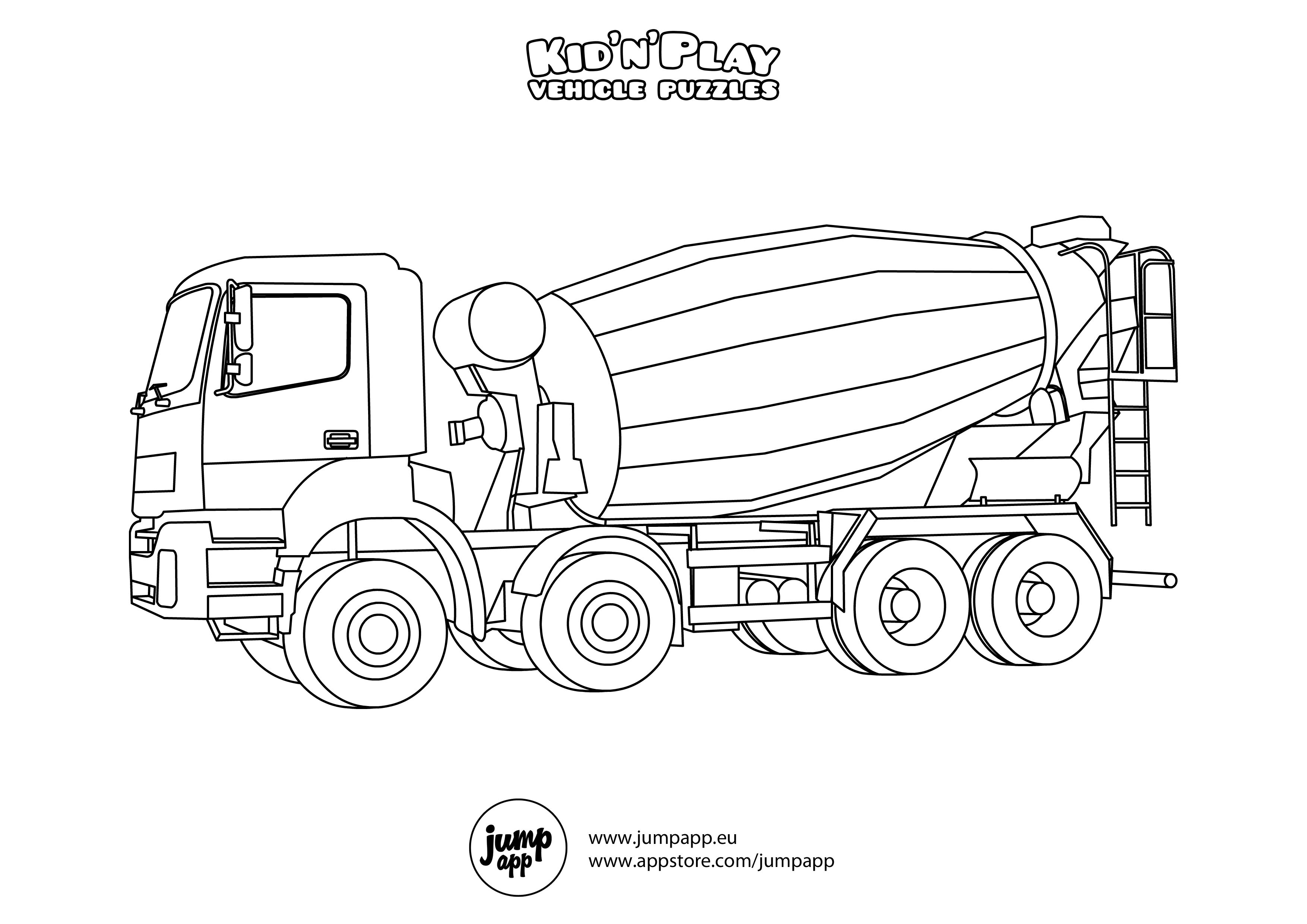 cement mixer coloring pages cement mixer coloring page for kids transportation coloring cement mixer pages
