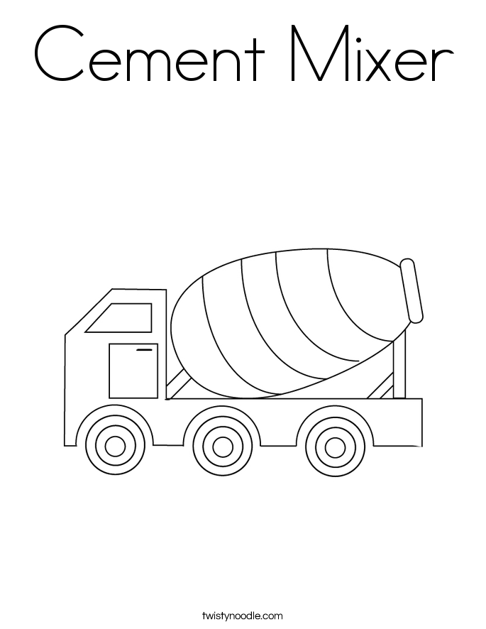 cement mixer coloring pages coloring page concrete mixer with images coloring mixer cement coloring pages
