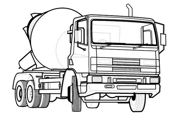 cement mixer coloring pages concrete mixer truck coloring mixer pages cement