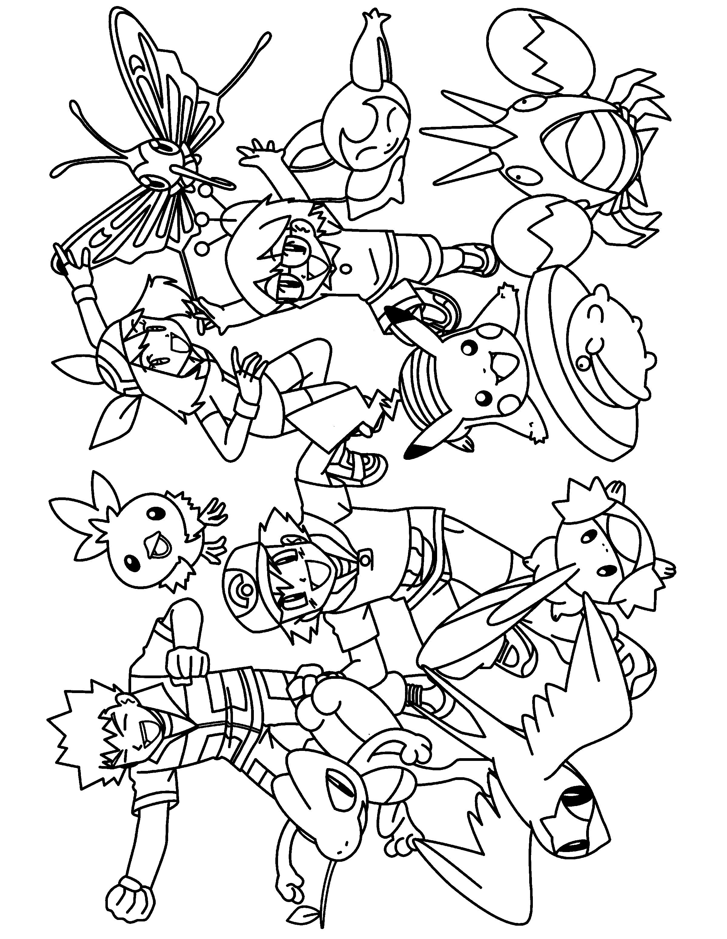 character coloring pages pokemon coloring pages join your favorite pokemon on an pages coloring character